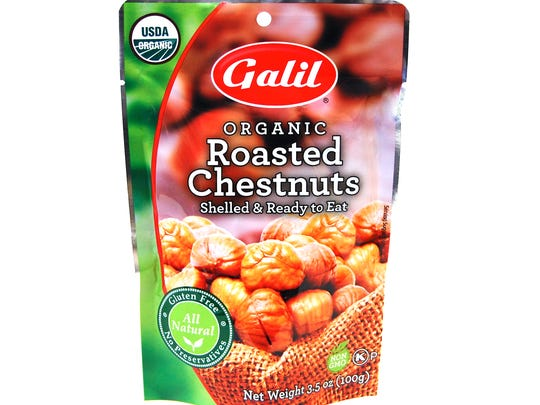 Kosher roasted chestnuts.