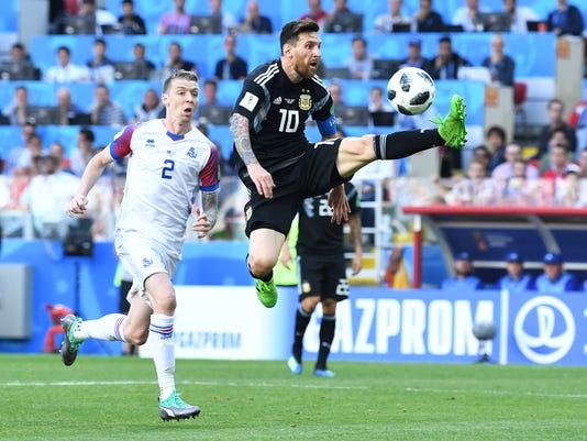 Soccer: World Cup-Argentina vs Iceland