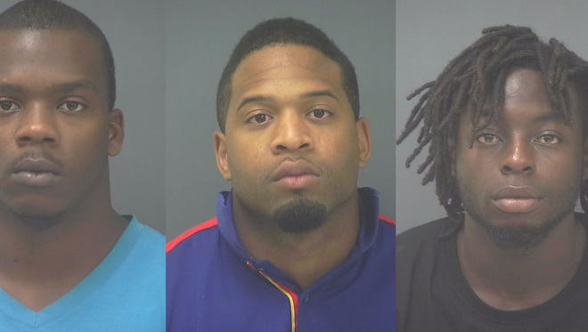 From left, Calvin Darobin Vashun Matthews, Christopher Davon Smith, and Tommy Lee Lewis Jr.