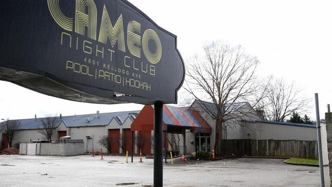 Cameo Night Club on Kellogg Avenue where two people were killed and at least 15 more were injured in a shooting early March 26.