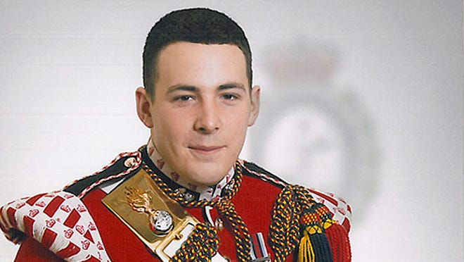 This undated file image released on by the British Ministry of Defence, shows Lee Rigby, who was attacked and killed by two men in London.