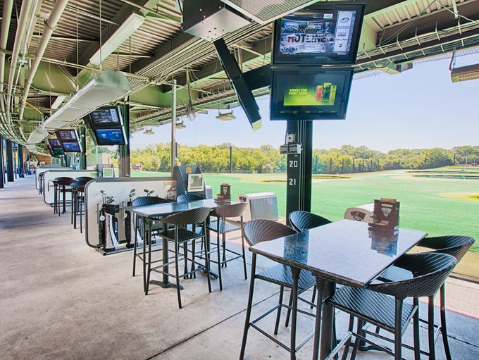 Dining is as integral a part of the Topgolf experience