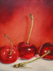 """""""Three Cherries"""" by Lorie Amick"""