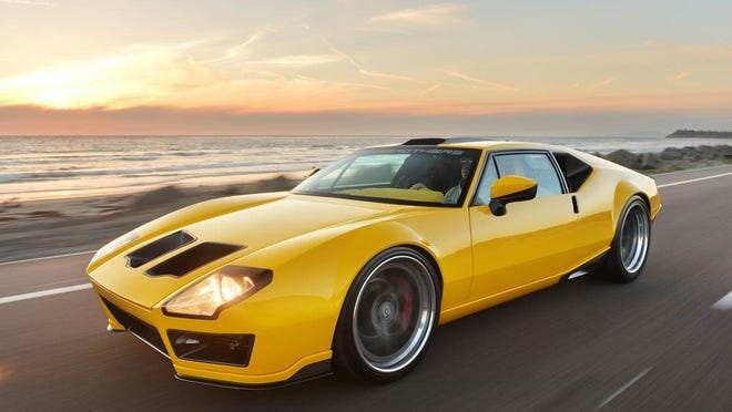 Body panels were altered to give the 1971 DeTomaso Pantera a more contemporary look.