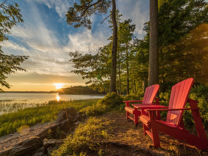 A magical sunset on the shores of Kejimkujik Lake in