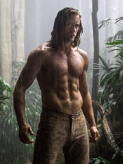 """This image released by Warner Bros. Entertainment shows Alexander Skarsgard from """"The Legend of Tarzan."""""""