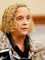York County Coroner Pam Gay speaks before the York