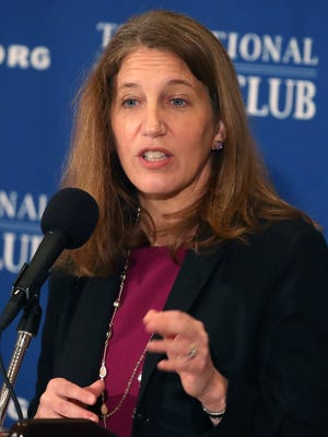 Health and Human Services Secretary Sylvia Burwell speaks about the benefits of the Affordable Care Act at the National Press Club on Jan. 9, 2017, in Washington.