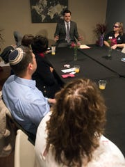U.S. Rep. Matt Gaetz meets with a group of local clergy