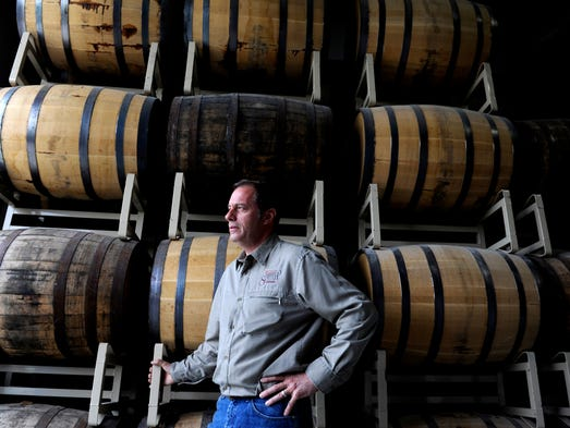 Clayton (Clay) Cutler is chief distiller at Tenn South Distillery near Lynnville. The distillery has been open about a year, and the first whiskey is still a year or more from being ready.