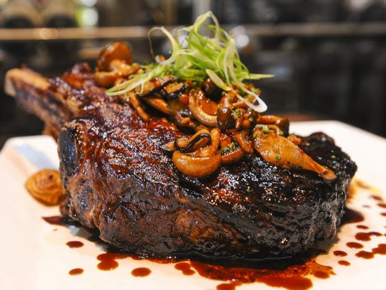 A 32-ounce prime rib signature dish made by Chef Tim