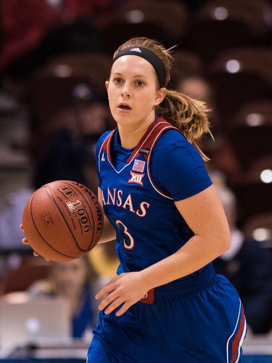 NCAA Womens Basketball: Notre Dame at Kansas