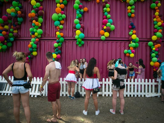 Festival goers enjoy day two of Firefly Music Festival at The Woodlands in Dover.