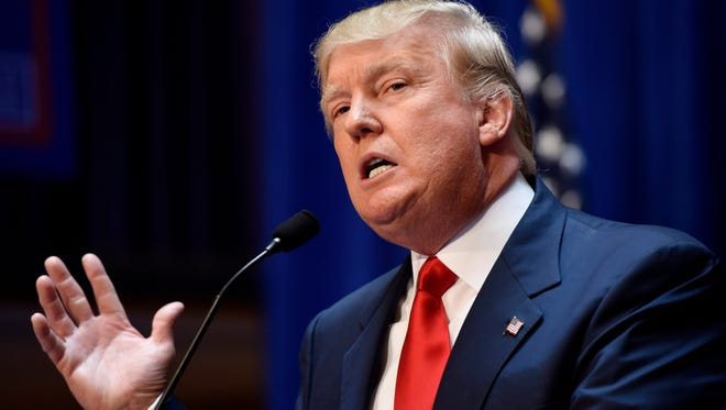 Donald Trump announces his presidential candidacy on June 16, 2015, in New York.