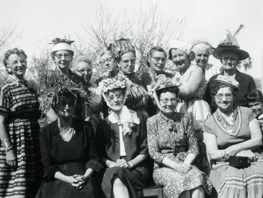 Members of the Scattergood Club, a local women's social