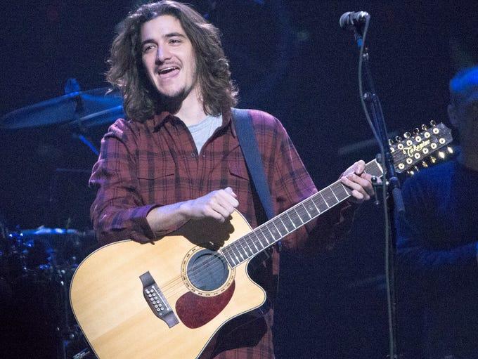 Deacon Frey, son of Glenn Frey, during the performance