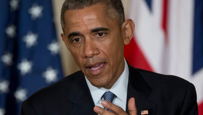 President Obama speaks in the East Room of the White