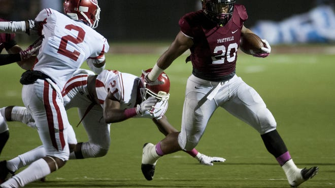 Prattville running back Kingston Davis ran for 180 yards in the season finale at Valley to set the school record for rushing yards in a single season.