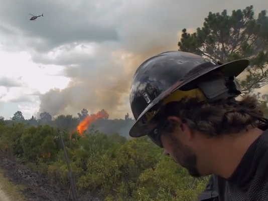 Big Cypress National Park wildfire video
