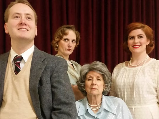 """Patrick Vaughn, Mia Seitz, Rena Cherry Brown and Carrie Cooke Ketterman in Bunbury Theatre's production of Edward Albee's Pulitzer Prize-winning play """"Three Tall Women."""""""