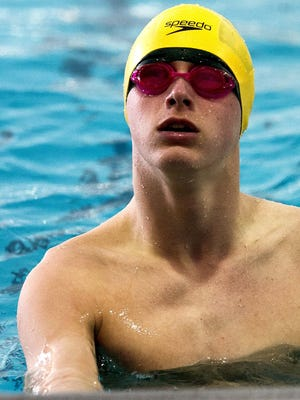 Iowa City West's Mark McGlaughlin, seen here last season, is first in the 50 freestyle, 100 freestyle, and 100 butterfly this year.