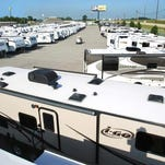 Lippert Components, a Goshen-based company that makes mattresses, seating and other accessories for the RV and manufactured housing industries, plans to hire 150 workers as it starts operations in South Bend later this year. Recreational vehicles and travel trailers are shown in this photo at Mount Comfort RV in Greenfield taken in June 2013.