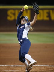 Pinnacle's Marissa Schuld (17) delivers a pitch Hamilton