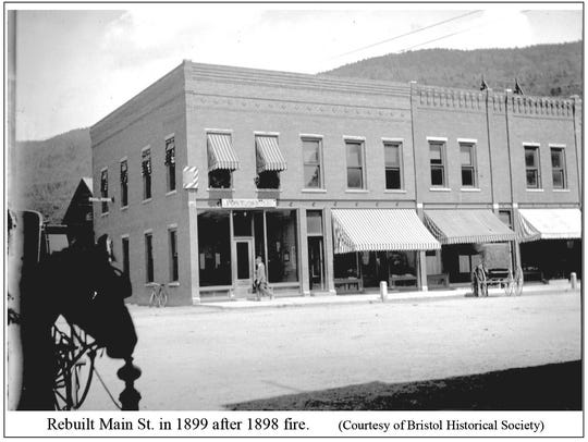 Rebuilt Main Street in 1899 after the 1898 fire.