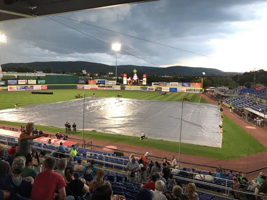 The Rumble Ponies rolled out the tarp in an effort