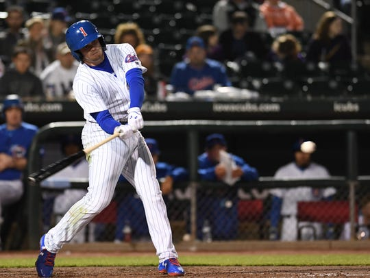Ian Happ returns to the Iowa Cubs for the first time since 2017.