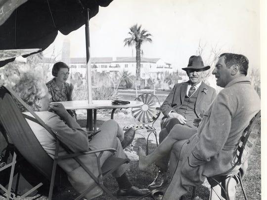 Albert Einstein, Phyllis Pinney, Samuel Untermyer and Ernst Lubitsch at the El Mirador Hotel, circa 1933.