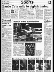 BC Sports History - Week of July 30, 1995