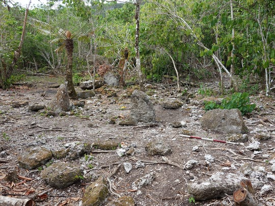 Remains of an ancient Chamorro settlement at Ritidian, discovered last year.