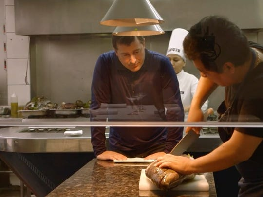 """A still of Josep Roca of El Celler de Can Roca in Spain from the documentary """"Cooking Up a Tribute."""""""