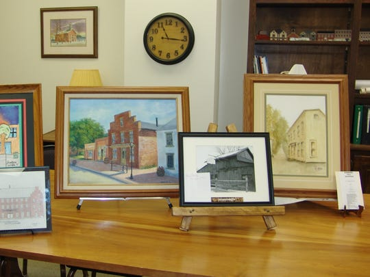 Art contest participants were asked to choose a subject that depicted either old or new Roscoe Village.