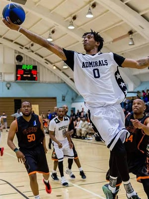 Lonnie Perason-Piper, a former star at Seattle's Rainier Beach High School, is among the top players in the North American Basketball League for the Kitsap Admirals.