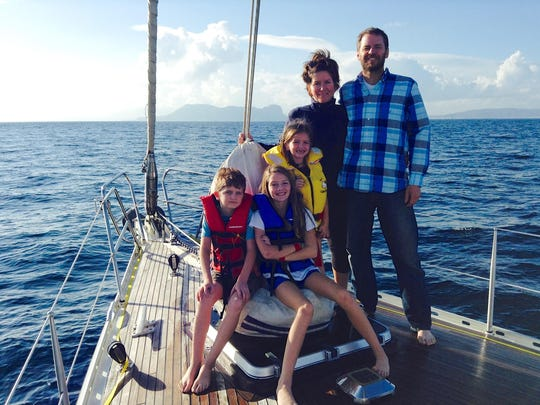 The McGreal Stence family -- from left, Henry, Lilly,