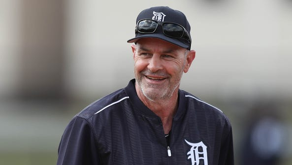 Former Tiger Kirk Gibson worked with players during