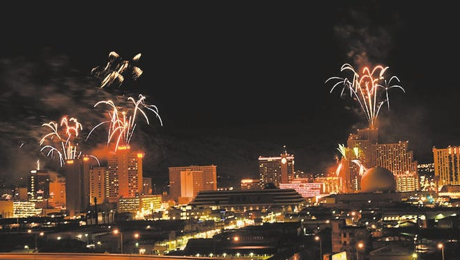 Fireworks will light up downtown Reno on New Year's Eve.