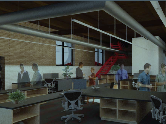 This rendering depicts what the renovated interior