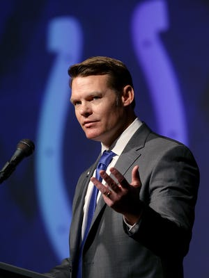 Chris Ballard was introduced as the Indianapolis Colts new general manager  Monday, January 30, 2017, afternoon at the Colts Indiana Farm Bureau Football Center.