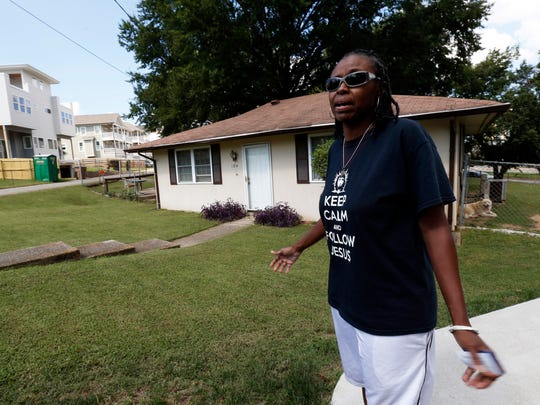 Resident Sharon Jarrett talks about the development around her home of 16 years, south of Downtown Nashville.