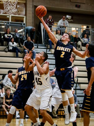 Haslett's Evan Block leads the area in made 3s.