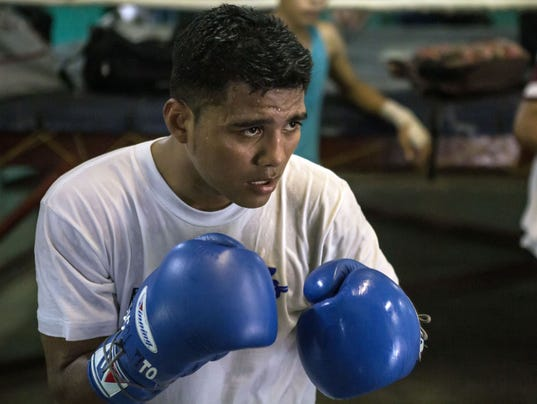 NICARAGUA-BOXING-POVERTY-YOUNGSTERS