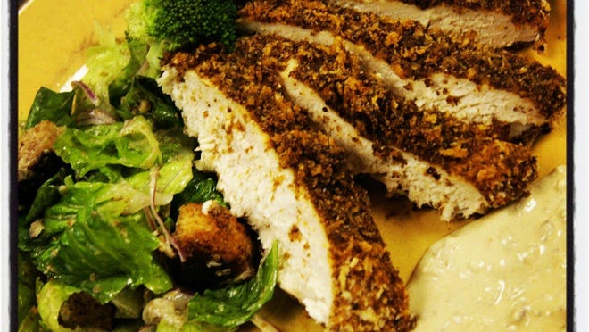 Flax-crusted Oven Fried Chicken.