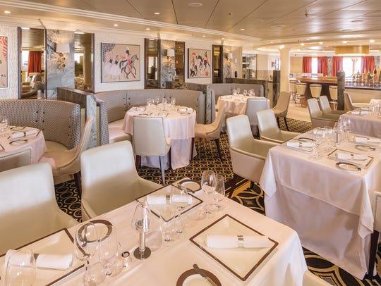 The new Verandah restaurant on Queen Mary 2 serves
