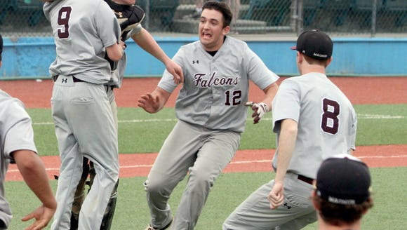 Albertus Magnus celebrates after crushing Edgemont