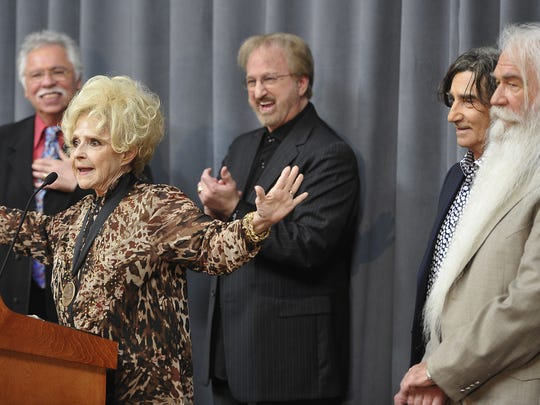 The Oak Ridge Boys, Jim Ed Brown and The Browns gathered at the Country Music Hall of Fame & Museum for the public announcement by Brenda Lee that they would be 2015 inductees into country's most elite group, along with the late guitarist/fiddler Grady Martin (1929-2001).