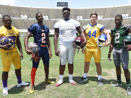 Mississippi State commits (from left) Fabian Franklin,
