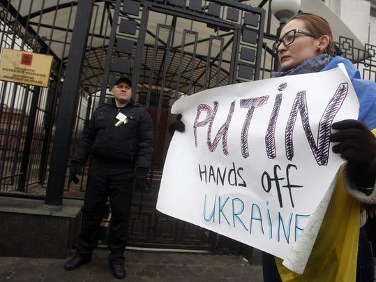 Russia Ukraine Protest